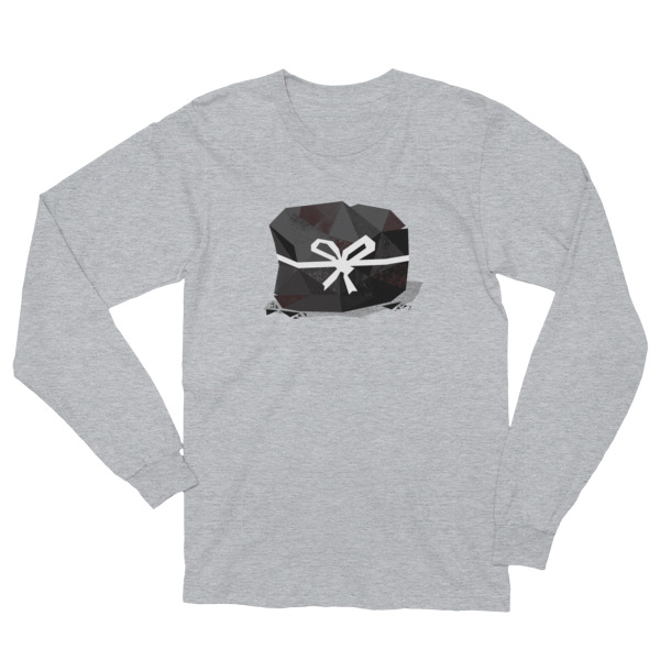Lump of Coal Shirt Longsleeve White Ribbon