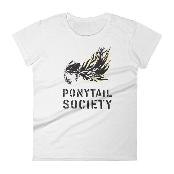 Old Time Hockey Tee Women Ponytail Society