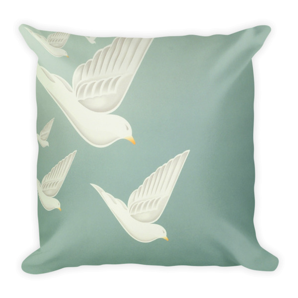 Diving Doves Pillow