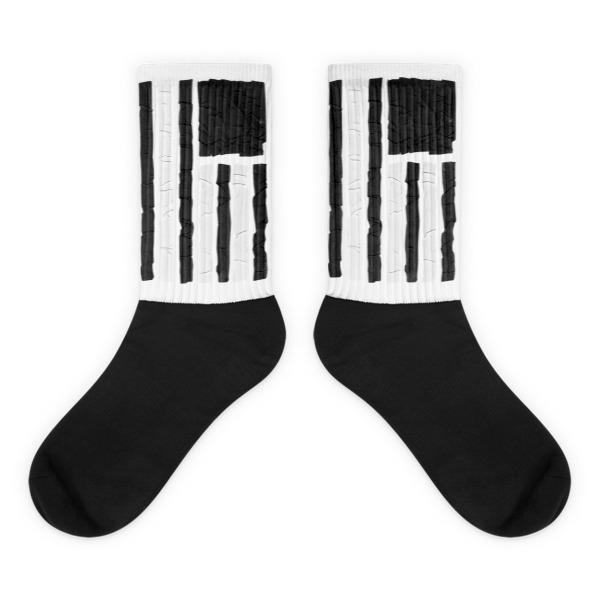 Old Time Hockey Socks Tape Flag