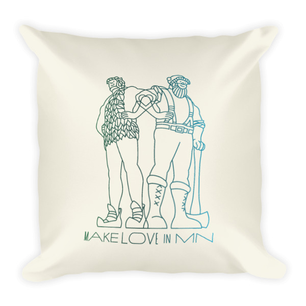 Make Love in MN Pillow