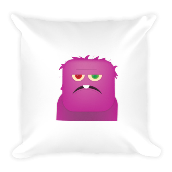 Purple People Eater Pillow White