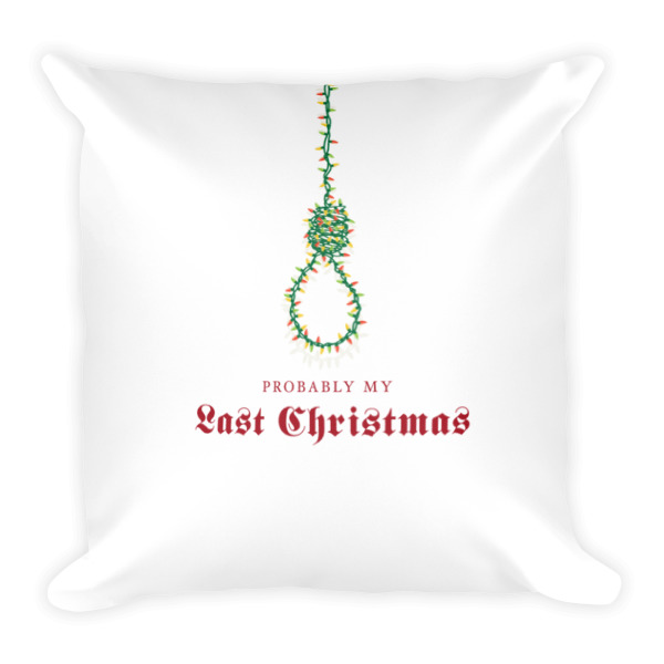 Last Christmas Pillow Square