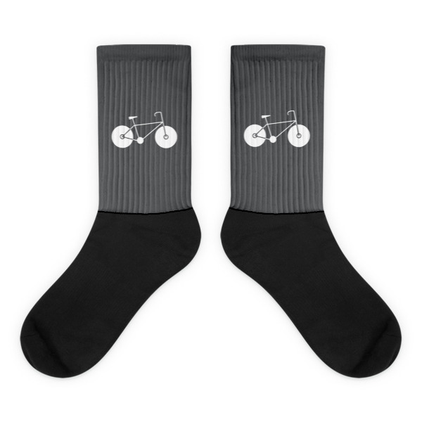 Nokomis Bike Socks Gray