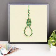 Festive Noose Poster Framed