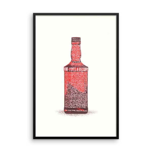 Regular Bottle Poster Framed