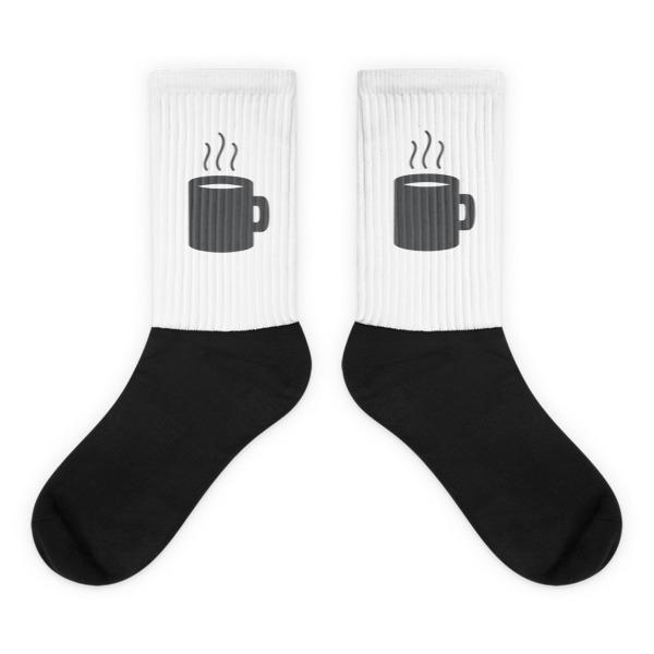 Nokomis Mug Socks White