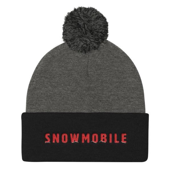 Snow Mobile Beanie Pom Pom