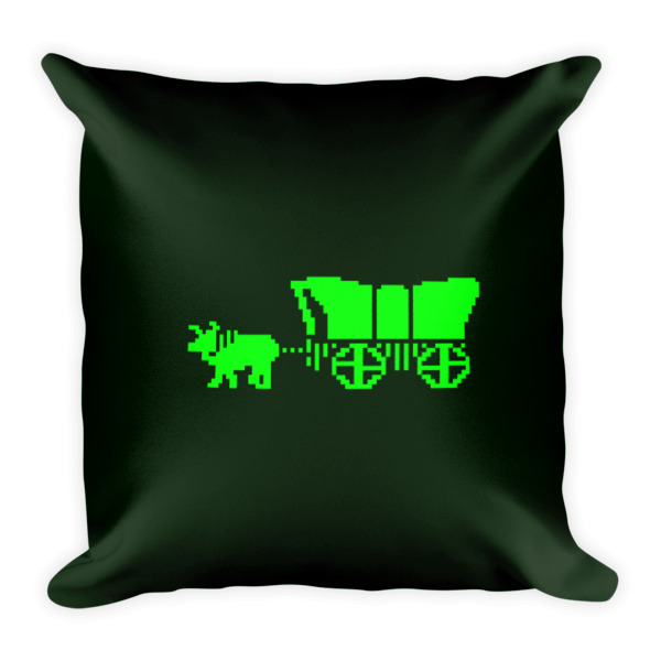 Oregon Trail Pillow Wagon Square
