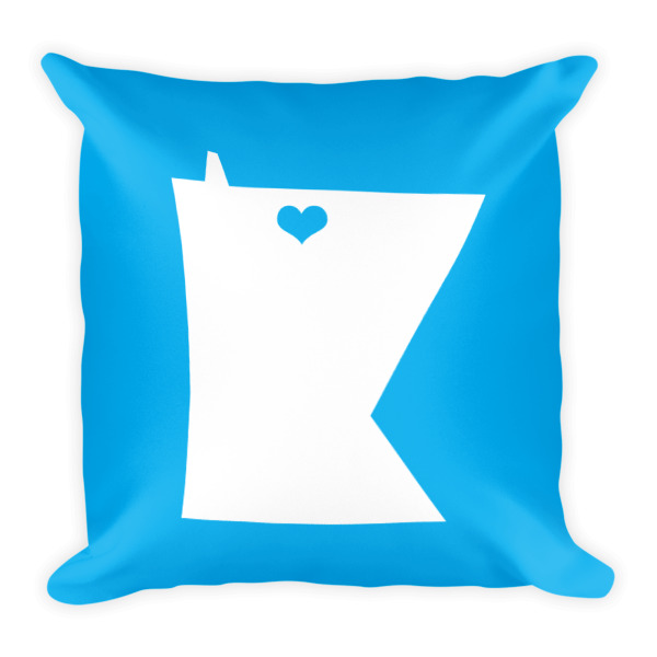 Equal Equals Love Pillow Blue
