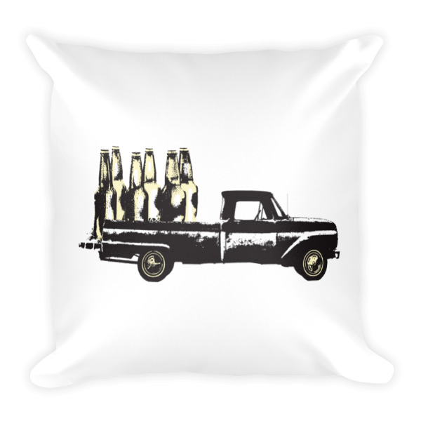 Old Time Hockey Pillow Blacktop Bar