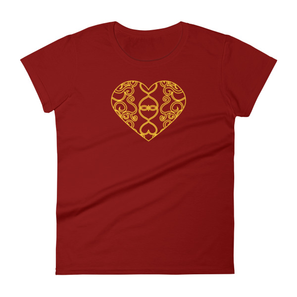 Filigree Heart Tee Women Dark