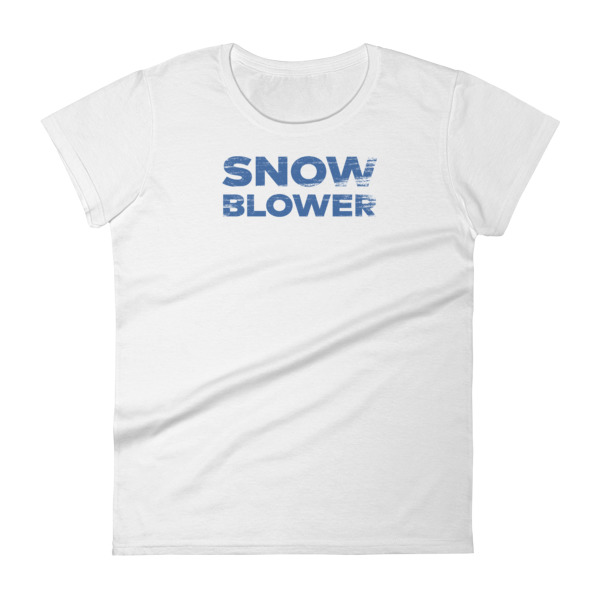 Snowblower Tee Women Wordmark