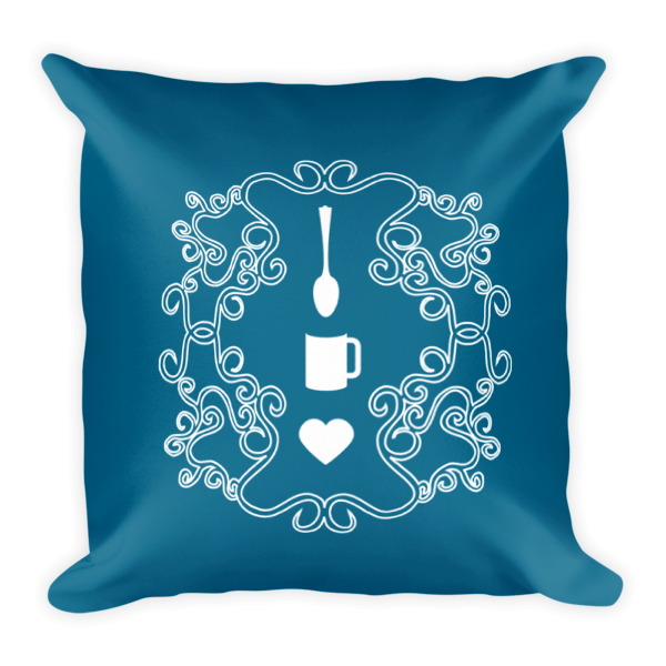 Love Coffee Emblem Pillow