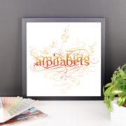 Smashing Alphabets Poster Framed