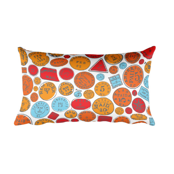 Postage Bold Pillow Rectangular