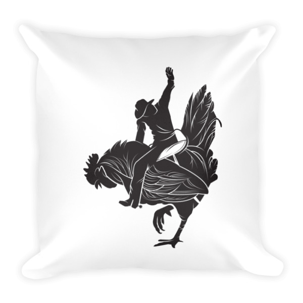 Detailed Cowboy Chicken Pillow