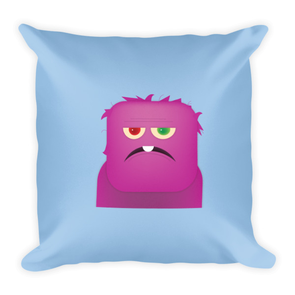 Purple People Eater Pillow Blue
