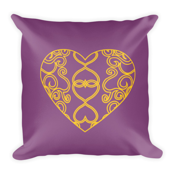 Filigree Heart Pillow