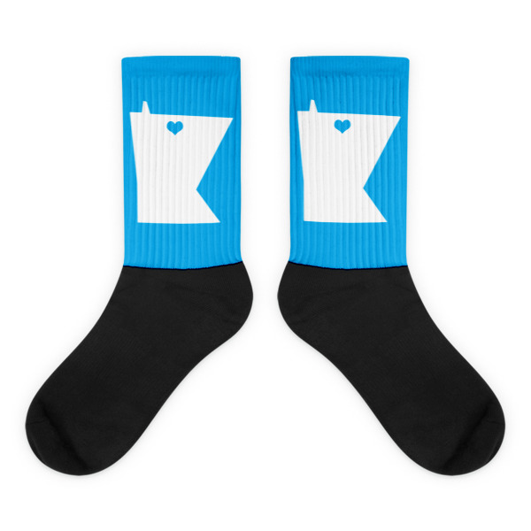 Equal Equals Love Socks Blue
