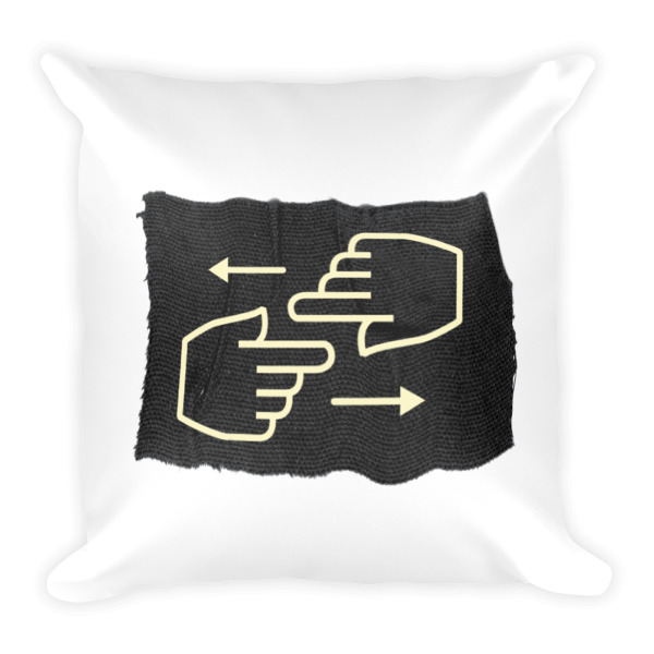 Old Time Hockey Pillow Hand Signals