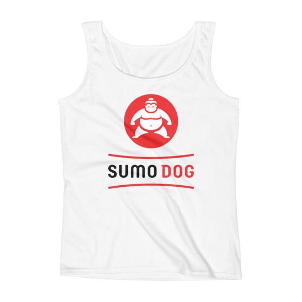 Sumo Dog Tank Women White