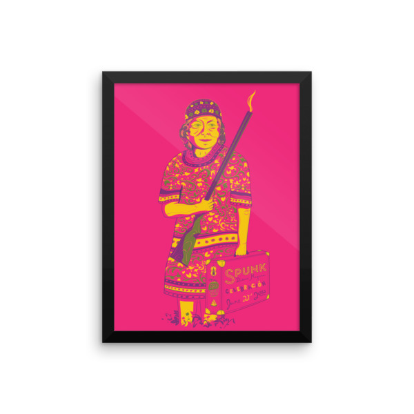 Mavis Get Your Gun Poster Framed