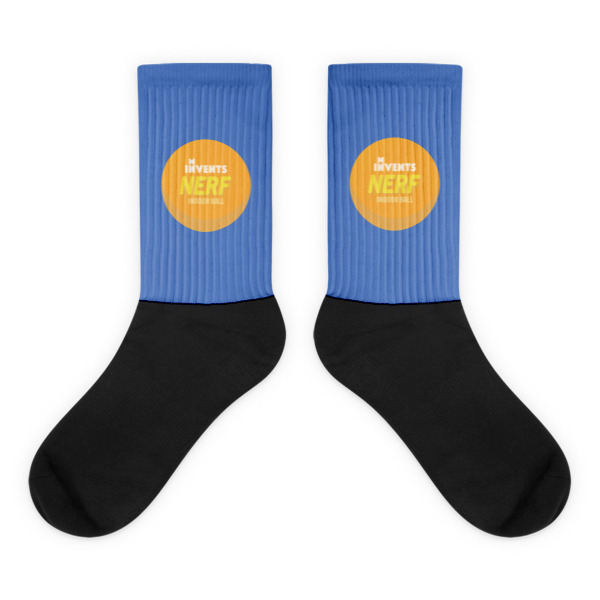 Foam Fun Socks Logo Blue