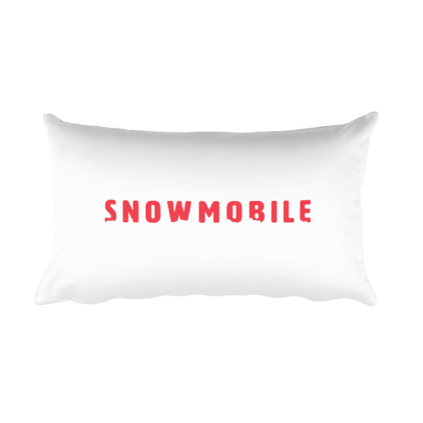 Snow Mobile Pillow Rectangular