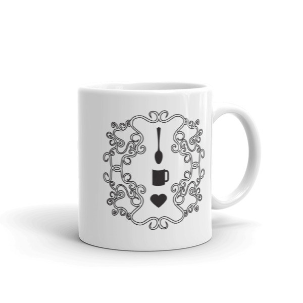 Love Coffee Emblem Mug