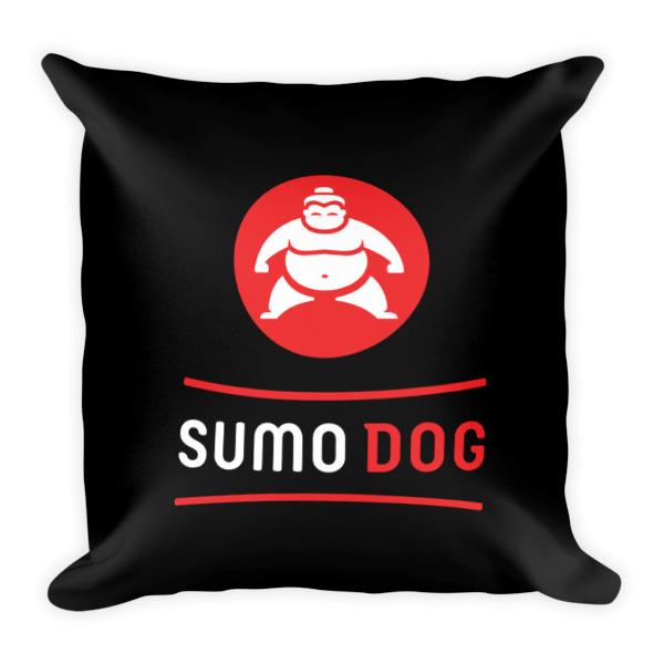 Sumo Dog Pillow Black