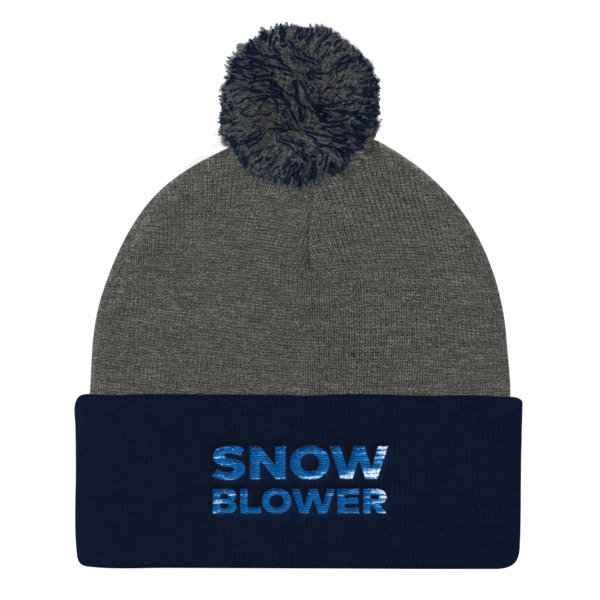 Snowblower Beanie Pom Pom Wordmark