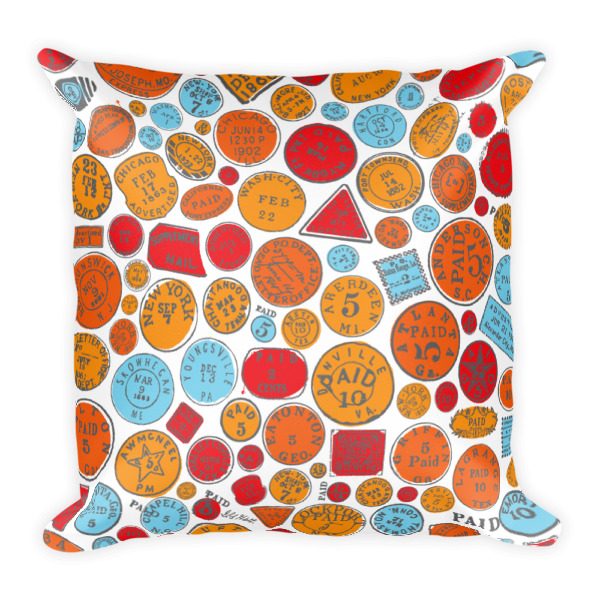 Postage Bold Pillow Square