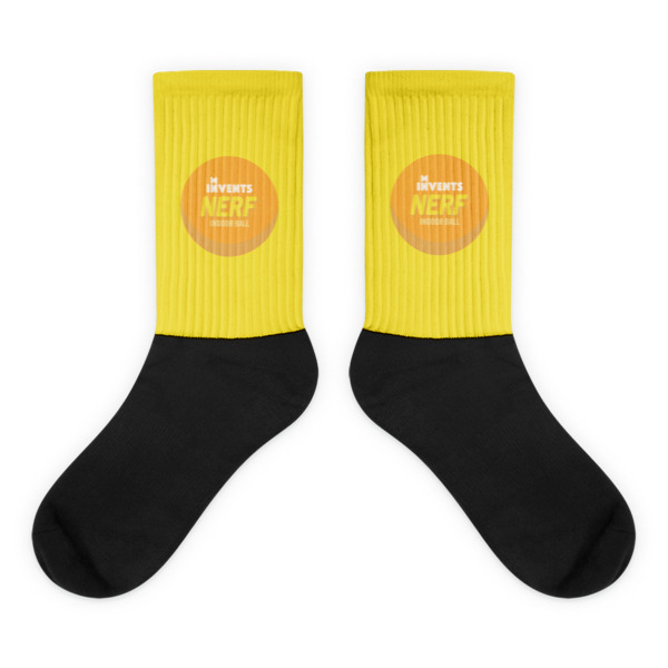 Foam Fun Socks Logo Yellow
