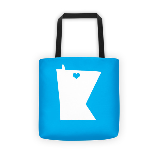 Equal Equals Love Tote Blue
