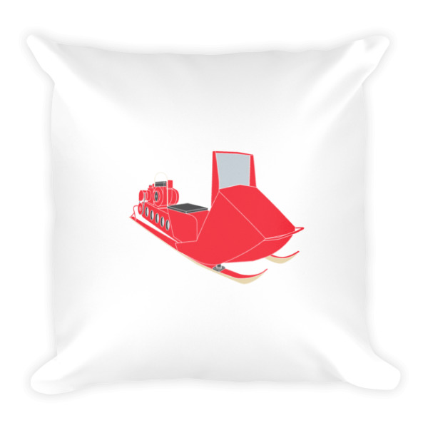 Snow Mobile Pillow Square