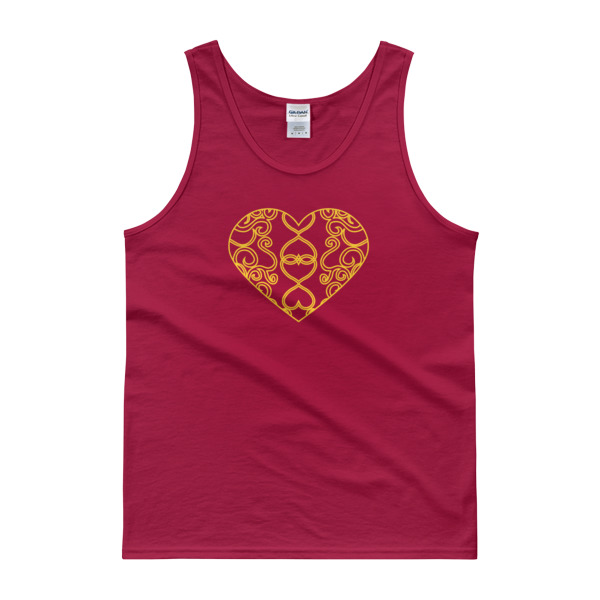 Filigree Heart Tank Dark