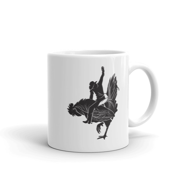 Detailed Cowboy Chicken Mug