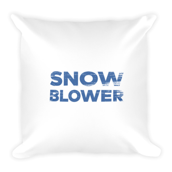 Snowblower Pillow Wordmark