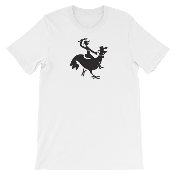 Cartoony Cowboy Chicken Tee