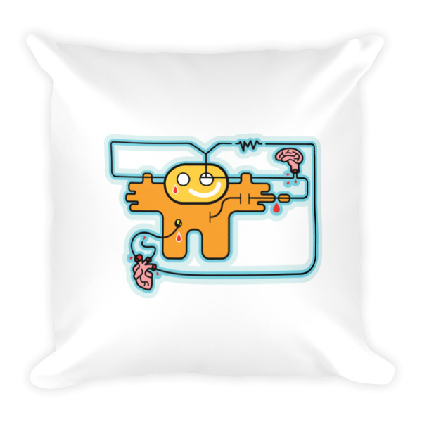 Sad Robot Pillow
