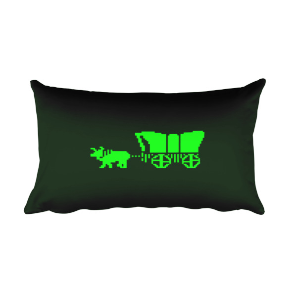Oregon Trail Pillow Wagon Rectangular