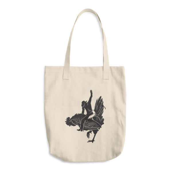 Detailed Cowboy Chicken Tote