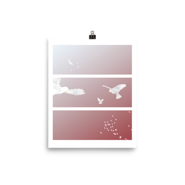 Doves Triptych Poster