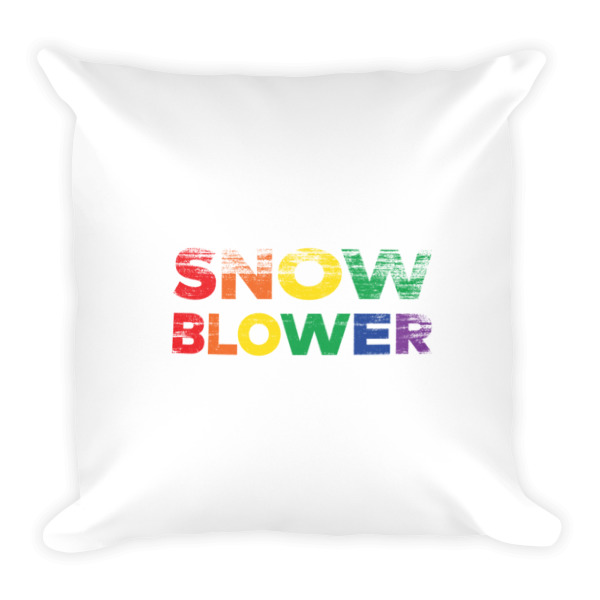 Snow Blower Pride Square Pillow