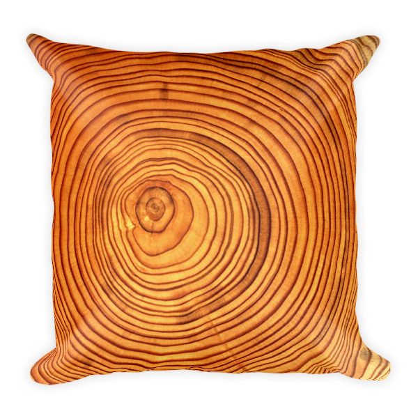 Cabin Cloth Pillow Wood