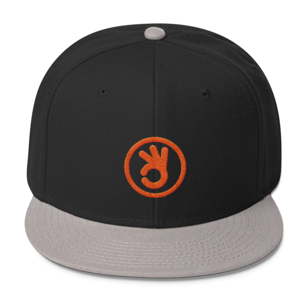 I Quit Hat Orange Logo