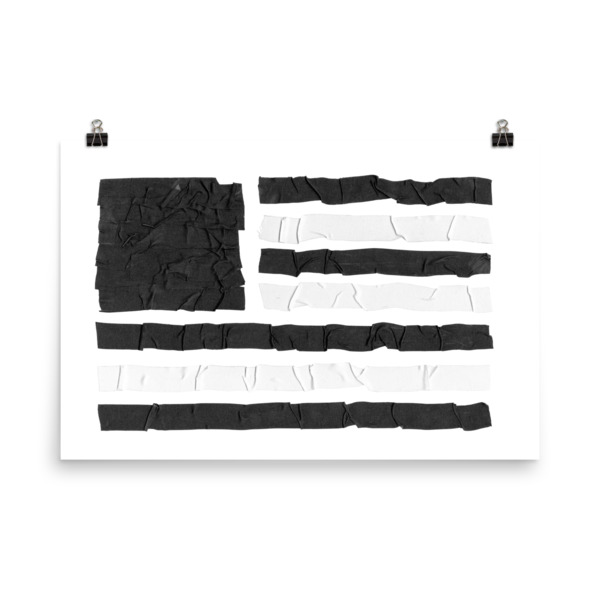 Old Time Hockey Tape Flag Poster