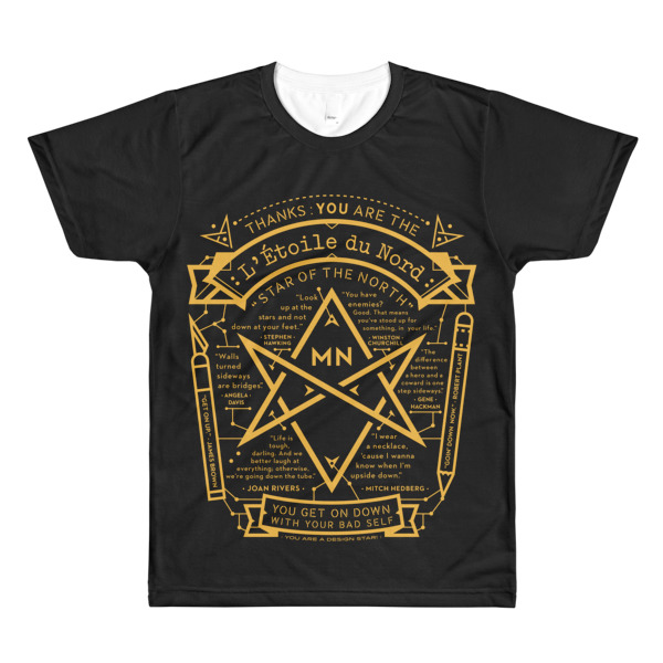 North Star Tee Black