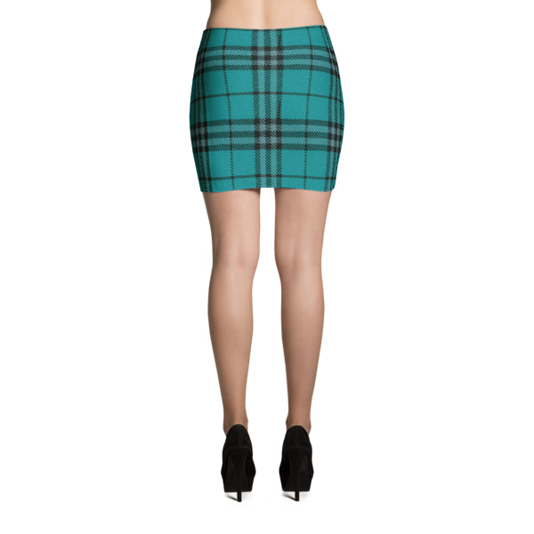 Cabin Cloth Mini Skirt Plaid